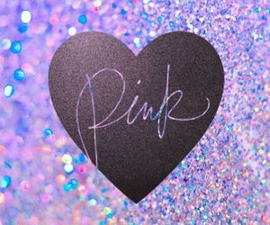 glitter, heart, and pink image