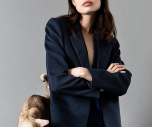 blogger, cat, and coat image