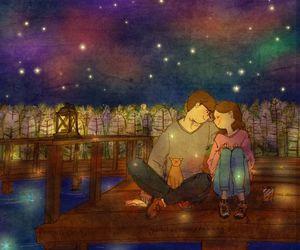 love, couple, and любовь image