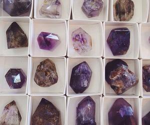 crystal, purple, and grunge image