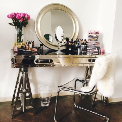 makeup, flowers, and mirror image