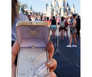 castle, disney, and necklace image