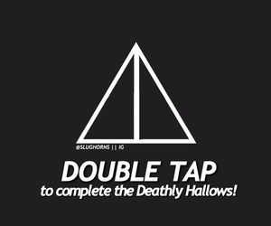 deathly hallows, harry potter, and heart it image