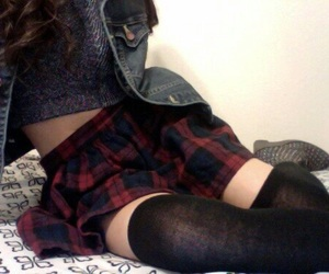 grunge, skirt, and pale image