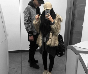 cap, coat, and fashion image