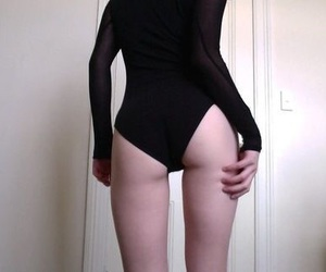 pale, black, and butt image