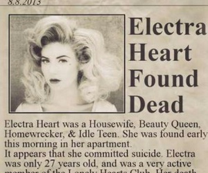 marina and the diamonds, electra heart, and dead image