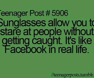 facebook, sunglasses, and funny image