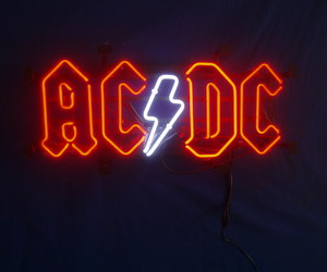 neon, ac dc, and ACDC image
