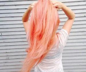 hair, girl, and peach image