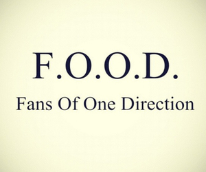 one direction, food, and 1d image