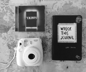 the 1975, polaroid, and black and white image
