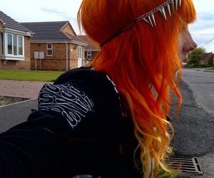 hair, alternative, and orange image