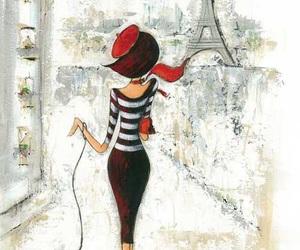 art, parisian, and dog image