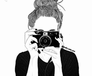 outline, drawing, and camera image