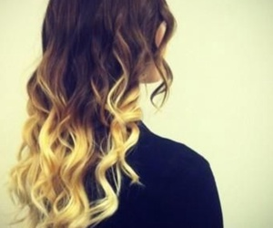 hair ombre blonde curl image