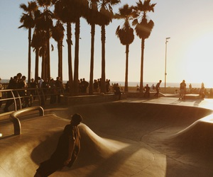 santa monica, skate, and skaters image