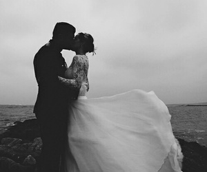 love, wedding, and kiss image