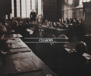 harry potter, hogwarts, and charms image