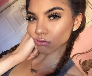 eyebrows, girl, and hair goals image