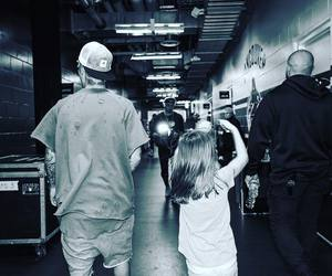 justin bieber, jazmyn bieber, and purpose tour image