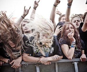 metalhead, headbang, and metal image