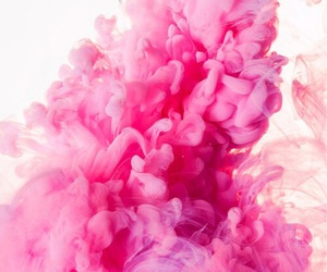 pink, wallpaper, and smoke image