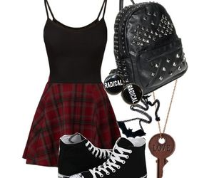 goth, outfit, and punk image