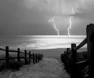 nature, storm, and beach image