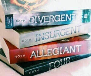 book, divergent, and four image