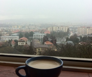 big city, city, and cofee image