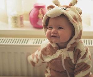 baby, child, and giraffe image