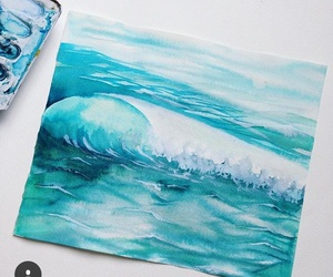blue and painting image