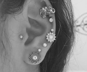 ear, flowers, and fun image