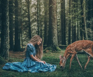 deer and fantasy image