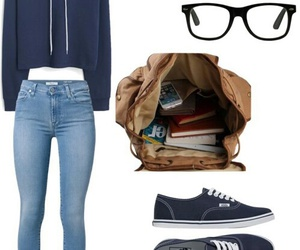 fashion, glasses, and school image