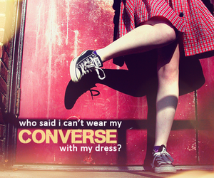 converse, dress, and demi lovato image