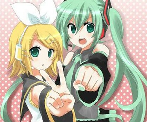vocaloid, rin, and hatsune miku image