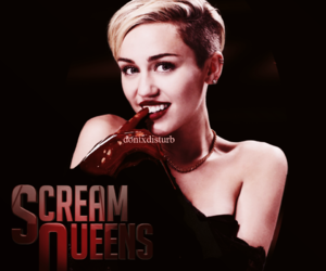 2016, miley cyrus, and scream queens image