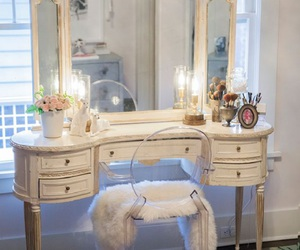 home, room, and makeup image