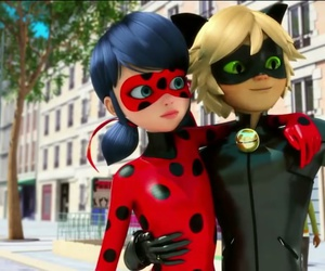 Chat Noir, Adrien, and ladybug image
