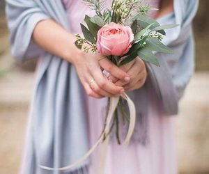 beautiful, rose, and wedding image