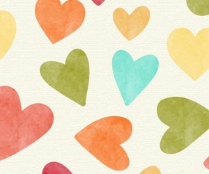 hearts, wallpaper, and colors image