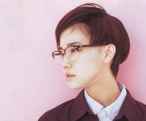 girl, glasses, and short hair image