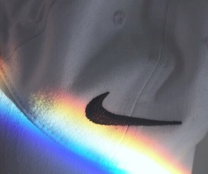 nike, rainbow, and tumblr image