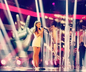 beautiful, the voice, and ariana grande image