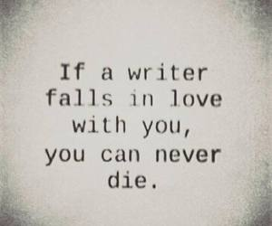 love, writer, and quotes image