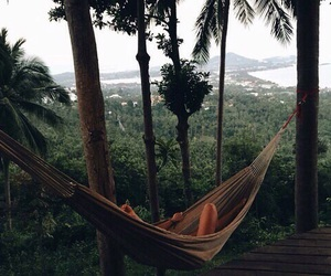 dark, tropical, and green image