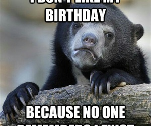 alone, birthday, and funny image