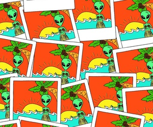 aliens, Collage, and colores image